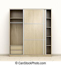 madeira, vazio, guarda-roupa