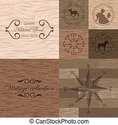 madeira, vetorial, prancha, textura