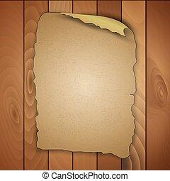 madeira, vindima, painéis, em branco