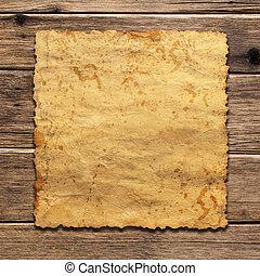 madeira, vindima, papel, folha, fundo