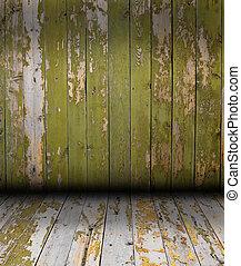 madeira, vindima, parede, pranchas, fundo
