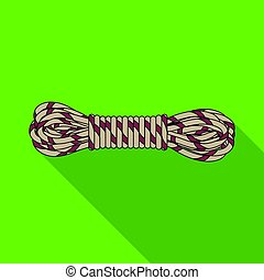 madeja, rope.mountaineering, estilo, plano, símbolo, web.,...