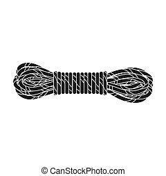 madeja, rope.mountaineering, estilo, símbolo, web.,...