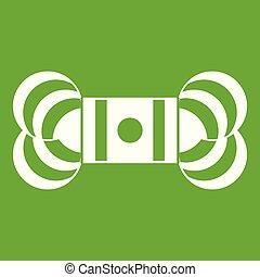madeja, verde, hilo, icono