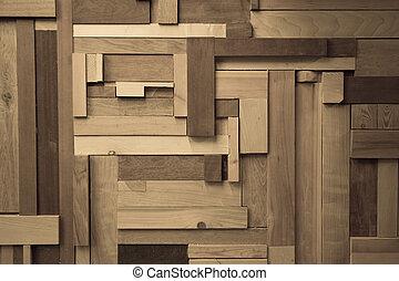 madera, composición