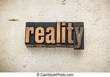 madera de palabra, tipo, realidad