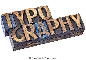 madera de palabra, tipo, tipografía