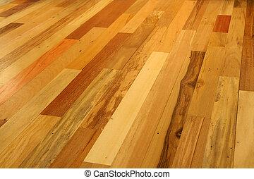 madera dura, embaldosado