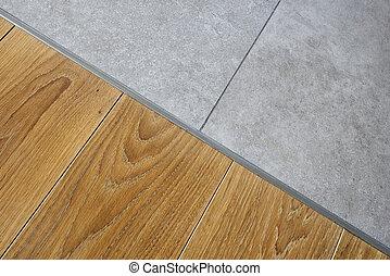 madera dura, piso de mármol