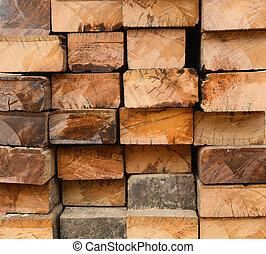 madera dura, viejo, superficie