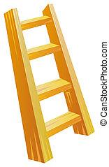 madera, escalera