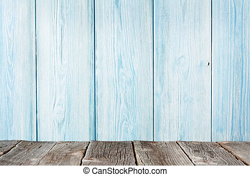 madera, estante, delante de, pared de madera