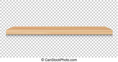madera, estante, emply