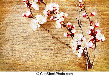 madera, flores