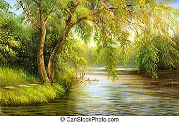 madera, lago