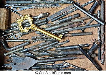 madera, mano, artesanía, herramientas, artista