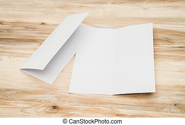 madera, papel, plantilla, textura, bifold, blanco