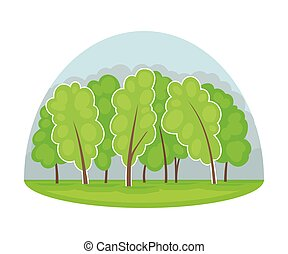 madera, recurso, área, bosque, natural, vector, ilustración