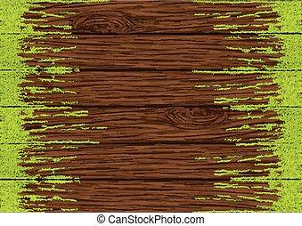 madera, tabla, musgo