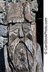 madera, tallado, sculture
