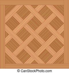 madera, tipo, versailles, embaldosado, parqué