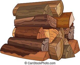 madera, troncos, fuego