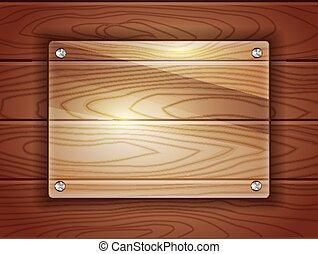madera, vidrio, placa