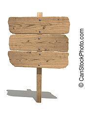 madera, viejo, señal