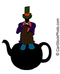 MadHatter Silhouette Illustration