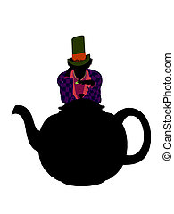 MadHatter Silhouette Illustration - Madhatter from Allice in...