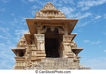madhya, khajuraho., indie, pradesh, świątynia