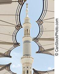 madina, meczet, aluminium