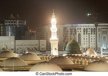 Madina Mosque at night