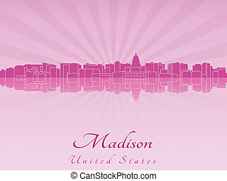 Madison skyline in purple radiant orchid - Madison skyline ...