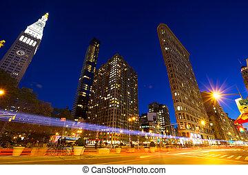 Madison Square at dusk, New York City
