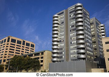Madison, Wisconsin - lakefront buildings