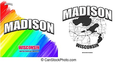 Madison, Wisconsin, two logo artworks