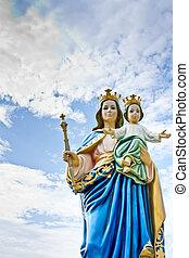 madonna, 以及, 耶穌, 孩子