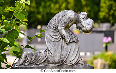 madonna, 祈ること, 像