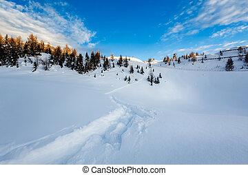Madonna di Campiglio Ski Resort in Italian Alps, Italy