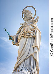 Madonna on Mount Orlando - Madonna statue on Mount Orlando,...