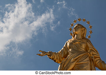 Madonnina Statue Perfect Replica - Madonna Golden Statue...