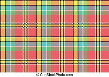 Madras check plaid pixeled seamless texture. Vector ...