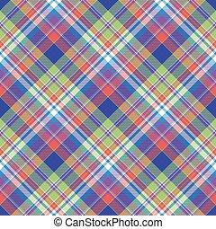 Madras color check plaid seamless pattern. Flat design. ...