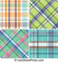 Madras pattern - Collection of seamless plaid patterns
