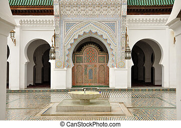 Madrasah Bou Inania in Fes, Morocco