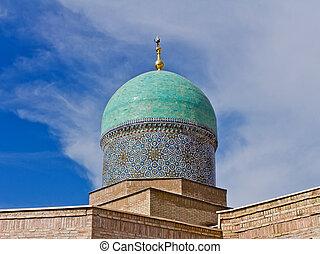 Madrasah dome - Madrasah Burokhon dome on sky