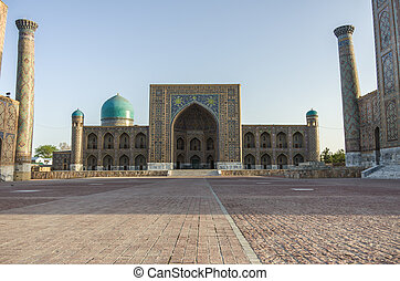 Madrasah Tilla-Kari on Registan square, Samarkand, Uzbekistan