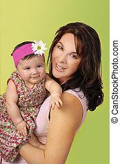 madre & bambino, in, braccio