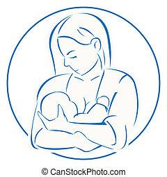 madre, bebé